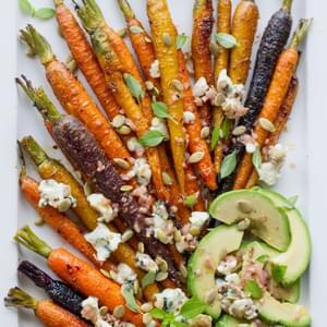 Roasted Carrots With Avocado And Vinaigrette
