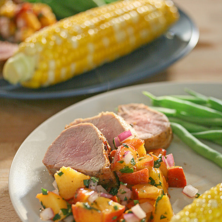 Grilled Pork Tenderloin with Fresh Peach Salsa Recipe