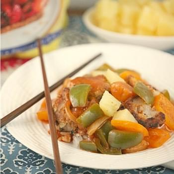 Sweet and Sour Pork {Low Calorie, No Sugar Added}