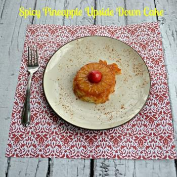 Spicy Pineapple Upside Down Cakes