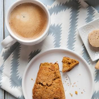 Sweet Potato Scones with Maple Cinnamon Butter