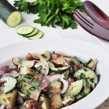 Roasted Red Potato Salad with Parsley Vinaigrette Dressing