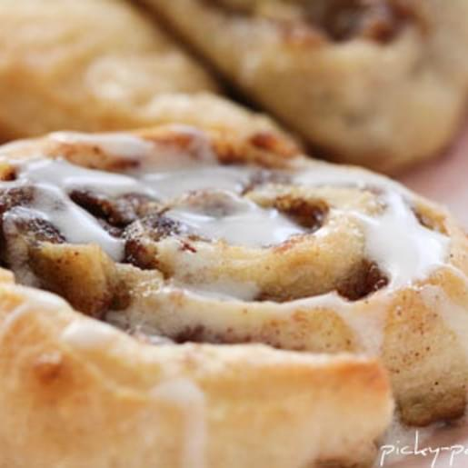 Roasted Banana Cinnamon Rolls