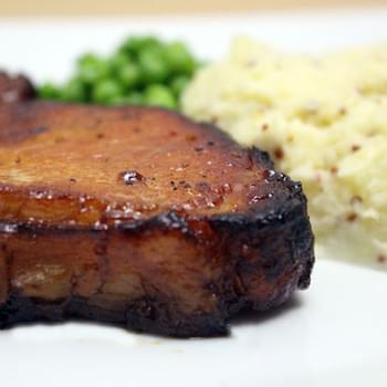 Honey Glazed Pork And Mustard Mash