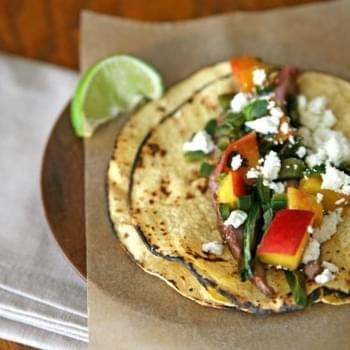 Flank Steak Tacos with Peach Salsa