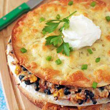 Chicken and Black Bean Enchilada Stacks