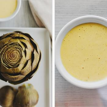 SIMPLE ARTICHOKES + GARLIC AIOLI