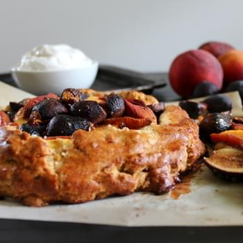 Peach Fig Galette with Coconut Whipped Cream