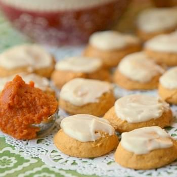Lightened Pumpkin Cookies with Vanilla Butter Frosting