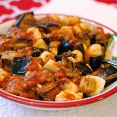 Ricotta Gnocchi with Eggplant Tomato Mozzarella Sauce {Naptime Everyday}