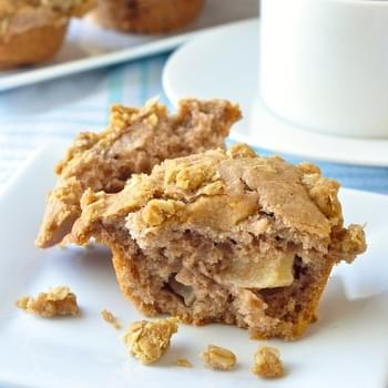 Apple Cinnamon Muffins with Oatmeal Crumble Streusel