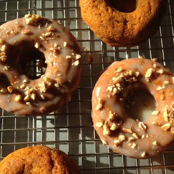Baked Sweet Potato Doughnuts with Maple Glaze