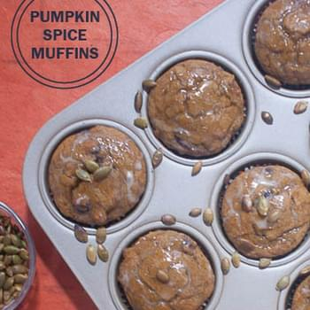 Pumpkin Spice Muffins with Maple Glaze