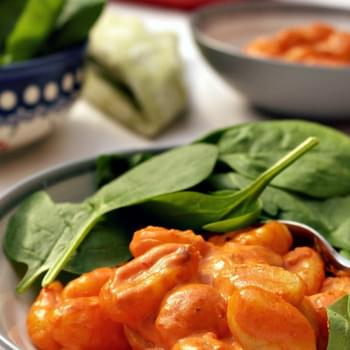 Potato Gnocchi With Creamy Roasted Pepper Sauce