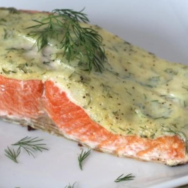 5 Ingredient 10 Minute Creamy Dill Salmon