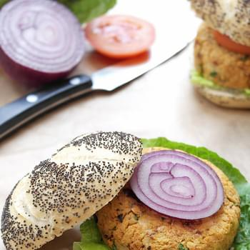 Mediterranean-style Chickpea Burgers With Sun-dried Tomatoes & Olives
