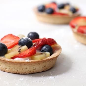 Summer Fruit Tarts With Honeyed Ricotta