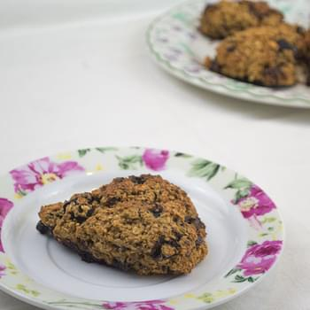 Blueberry & Dark Chocolate Oat Scones