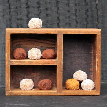 Sweet Potato and Fresh Ginger Protein Balls