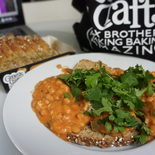 Cheesy Chipotle Beans on Toast