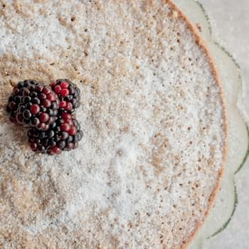 Blackberry And Coconut Olive Oil Cake