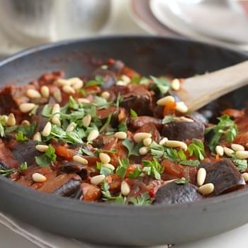 Aubergine Stew With Olives And Capers