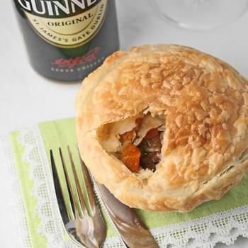Individual beef & Guinness pot pies