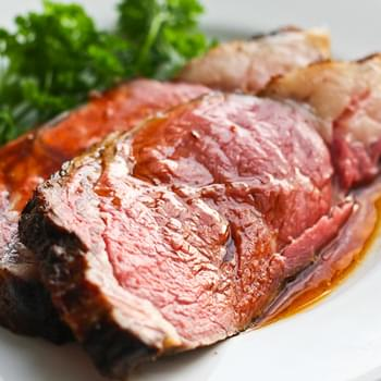 Perfect Prime Rib Roast with Red Wine Jus