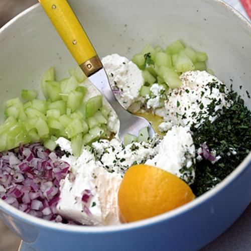 Joanne Weir's Cucumber and Feta Salad