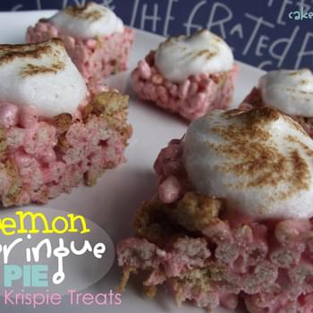 Lemon Meringue Pie Rice Krispie Treats