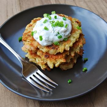 Smoked Salmon Latkes served with a Lemon & Caper Soured Cream