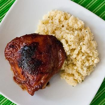 Honey & Soy Baked Chicken Thighs