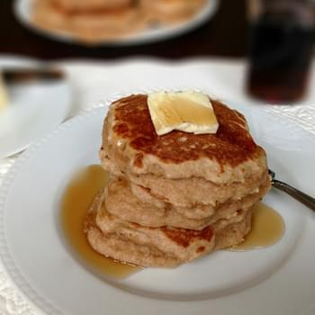 Whole Wheat Pancakes with Greek Yogurt