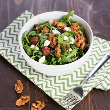 Roasted Grape, Feta and Arugula Salad