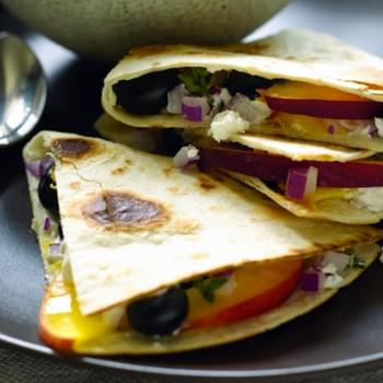 Blueberry and Cheese Quesadillas