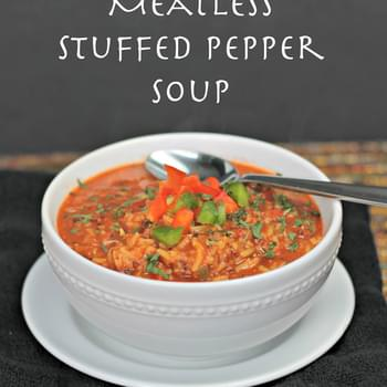 Meatless Stuffed Pepper Soup