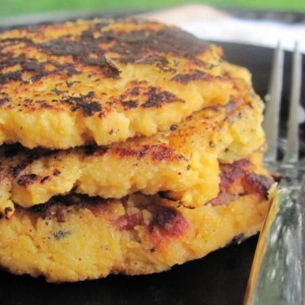 Side Dish Alert: Bacon Acorn Squash Patties