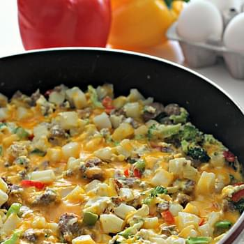 Egg, Potato, and Sausage Skillet