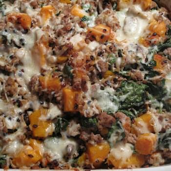 Wild Rice and Roasted Butternut Squash Casserole