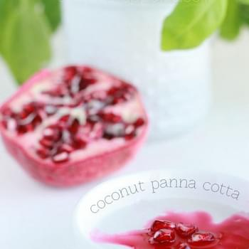 Coconut Panna Cotta with pomegranate