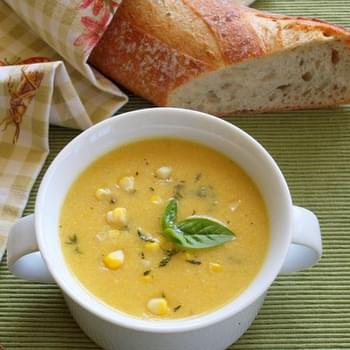 Summer Corn Soup with Fresh Herbs