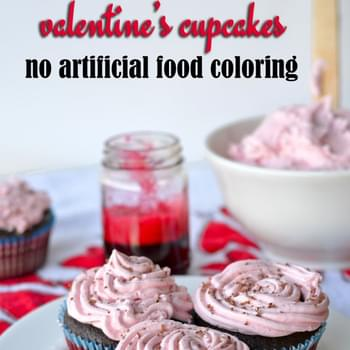 All-Natural Pink Vanilla Frosting (using beet juice)