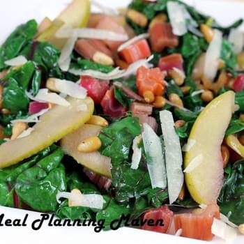 Sauté of Rainbow Chard with Apples