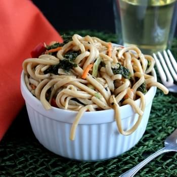 Asian Noodle and Kale Salad