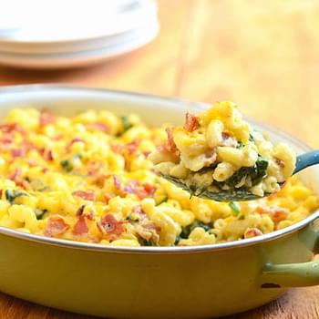 Spinach-Bacon Macaroni and Cheese