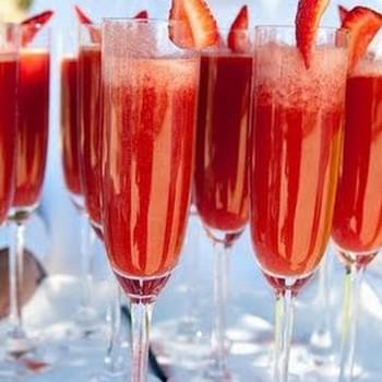Valentine's Strawberry Champagne Cocktail