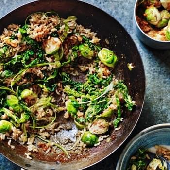 Korean Brown Rice & Brussels Sprouts