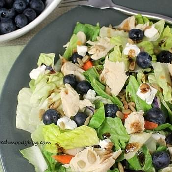 Grilled Chicken Salad w/ Blueberries and Goat Cheese