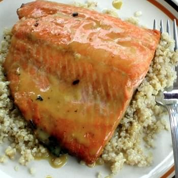 Honey Dijon Salmon with a Hint of Lemon