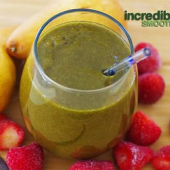 Strawberry Pear Green Smoothie Recipe With Beet Greens